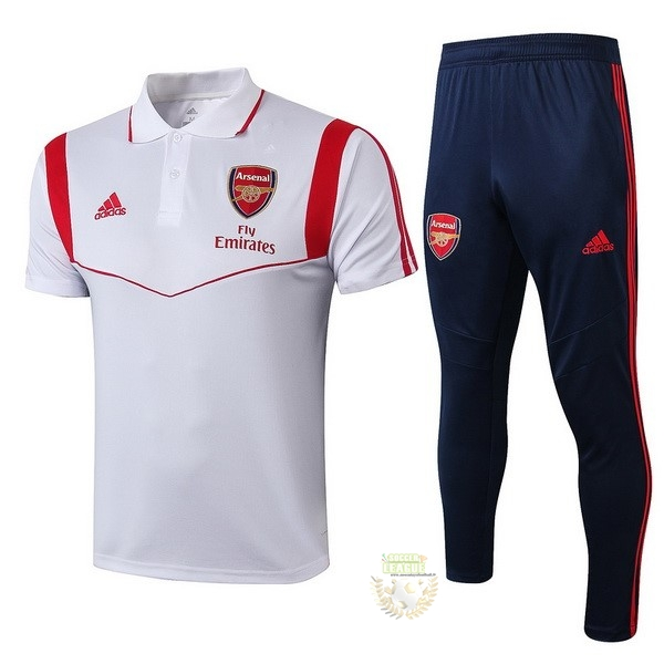 Site Foot Pas Cher Ensemble Complet Polo Arsenal 2019 2020 Blanc Rouge