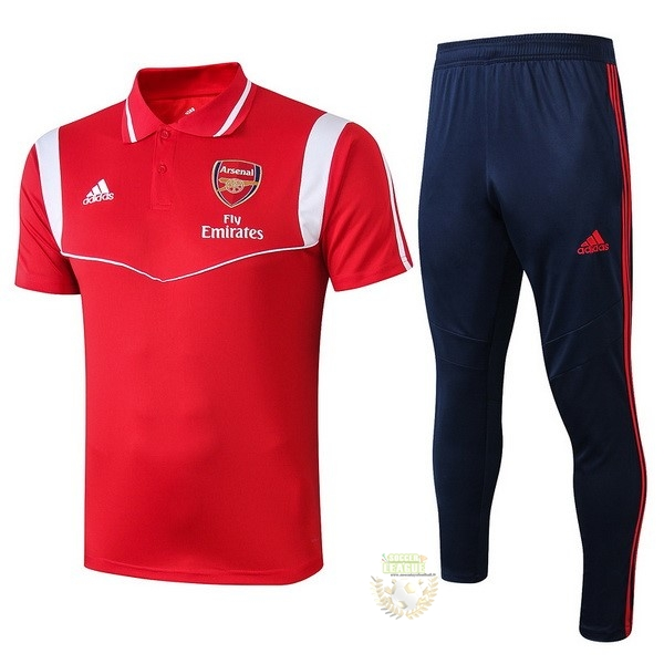 Site Foot Pas Cher Ensemble Complet Polo Arsenal 2019 2020 Rouge Blanc