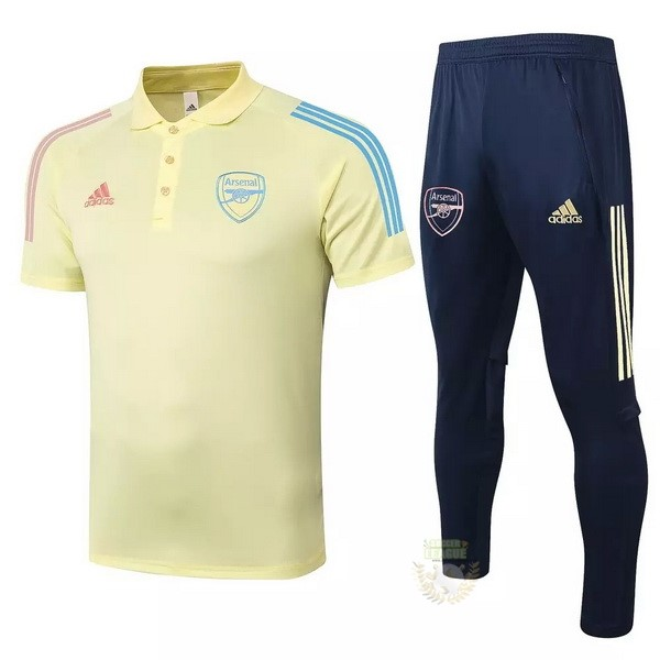 Site Foot Pas Cher Ensemble Complet Polo Arsenal 2020 2021 Jaune