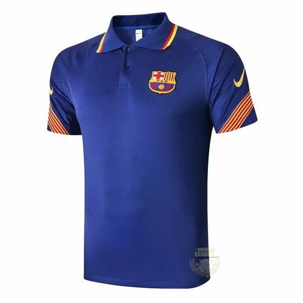 Site Foot Pas Cher Polo Barcelone 2020 2021 Bleu Orange