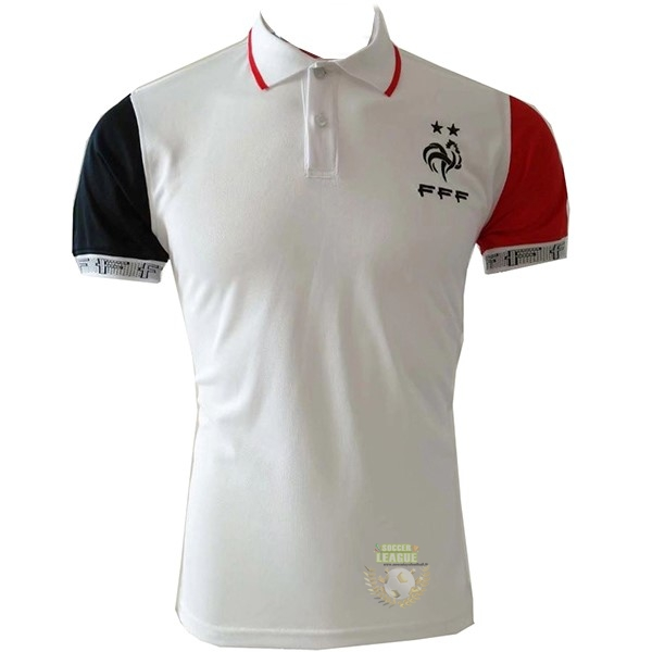 Site Foot Pas Cher Polo France 2019 Blanc Rouge