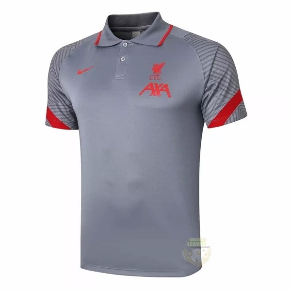 Site Foot Pas Cher Polo Liverpool 2020 2021 Gris Clair