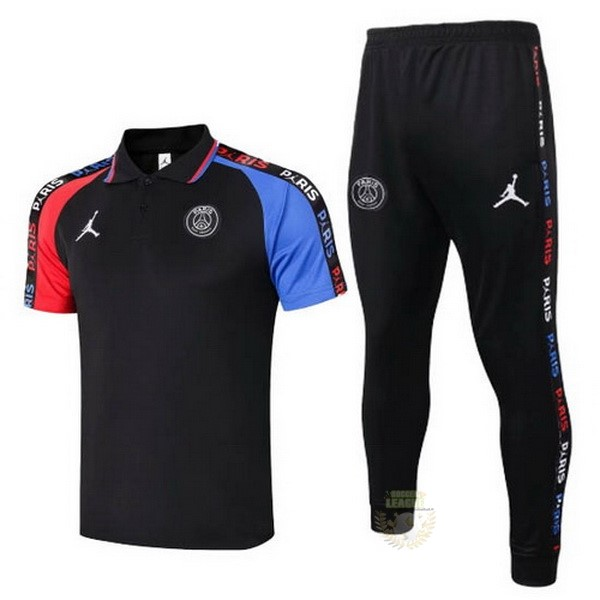 Site Foot Pas Cher Ensemble Complet Polo Paris Saint Germain 2020 2021 Noir Bleu