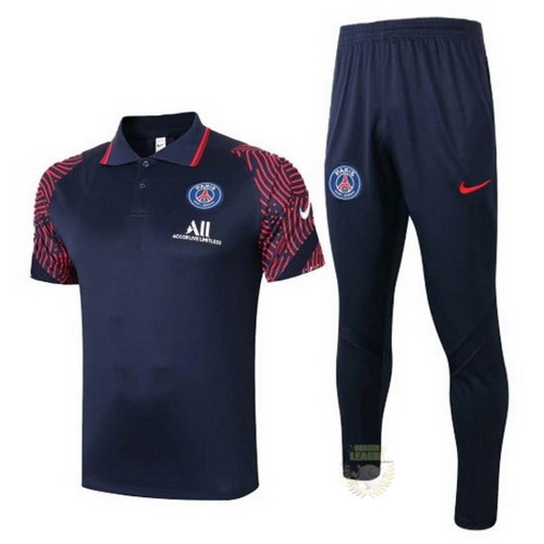Site Foot Pas Cher Ensemble Complet Polo Paris Saint Germain 2020 2021 Noir Rouge