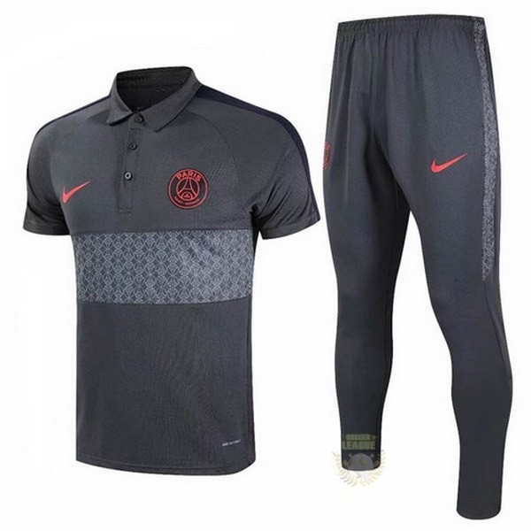 Site Foot Pas Cher Ensemble Complet Polo Paris Saint Germain 20 21 Gris