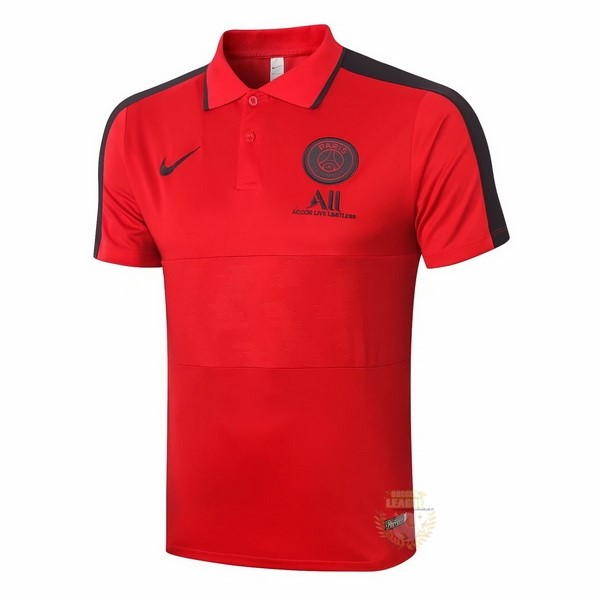 Site Foot Pas Cher Polo Paris Saint Germain 2020 2021 Rouge