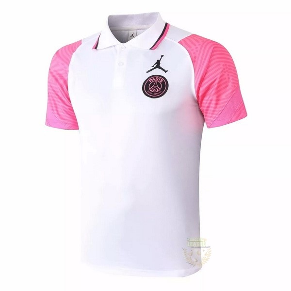 Site Foot Pas Cher Polo Paris Saint Germain 2020 2021 Blanc Rose