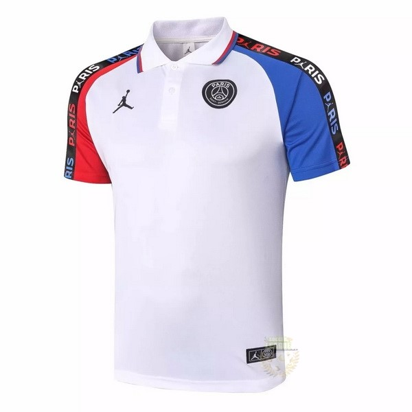 Site Foot Pas Cher Polo Paris Saint Germain 2020 2021 Blanc Rouge Bleu