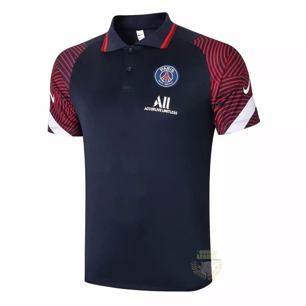 Site Foot Pas Cher Polo Paris Saint Germain 2020 2021 Bleu Marine Rouge