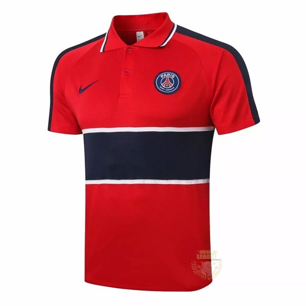 Site Foot Pas Cher Polo Paris Saint Germain 2020 2021 Rouge Noir