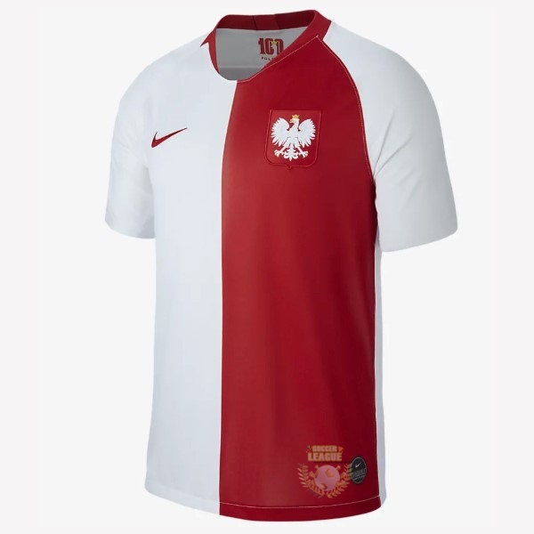 Site Foot Pas Cher Maillot Polonia 100th Blanc Rouge