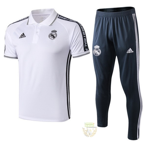 Site Foot Pas Cher Ensemble Complet Polo Real Madrid 2019 2020 Blanc