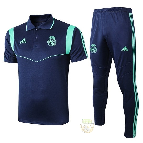 Site Foot Pas Cher Ensemble Complet Polo Real Madrid 2019 2020 Bleu Marine