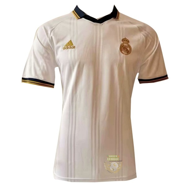 Site Foot Pas Cher Polo Real Madrid 2019 2020 Blanc Jaune