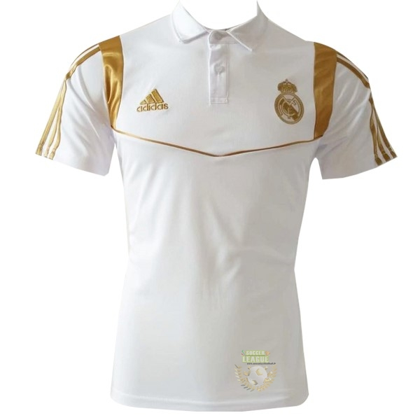 Site Foot Pas Cher Polo Real Madrid 2019 2020 Blanc Or