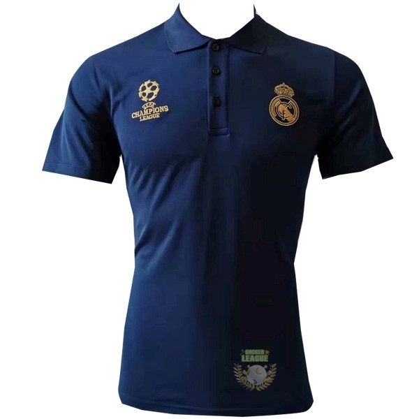 Site Foot Pas Cher Polo Real Madrid 2019 2020 Bleu Jaune