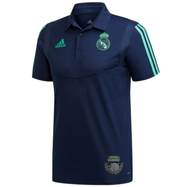 Site Foot Pas Cher Polo Real Madrid 2019 2020 Bleu Marine Vert