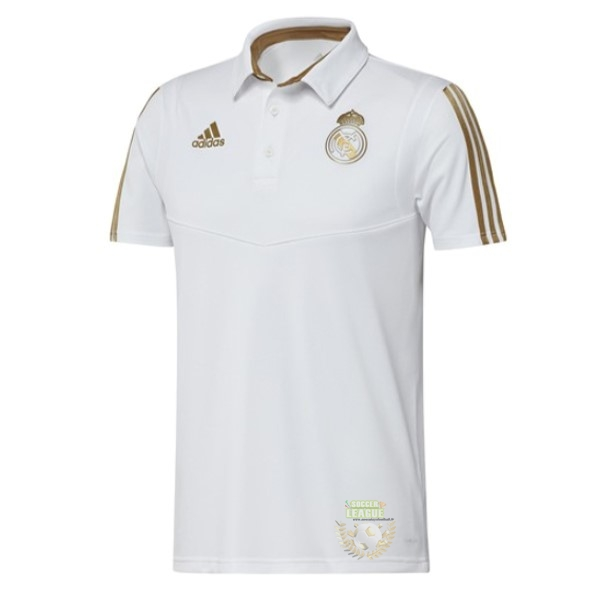 Site Foot Pas Cher Polo Real Madrid 2019 2020 Jaune Blanc