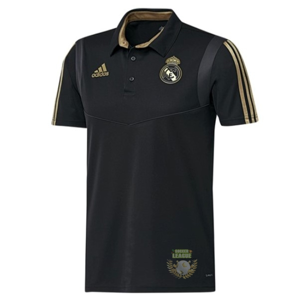 Site Foot Pas Cher Polo Real Madrid 2019 2020 Noir Jaune
