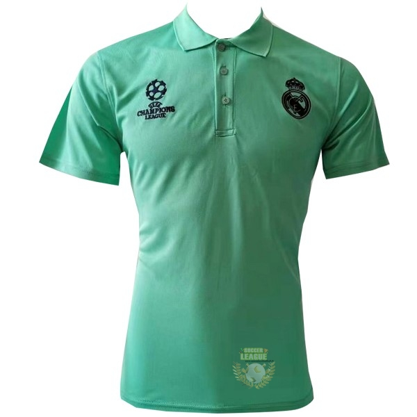 Site Foot Pas Cher Polo Real Madrid 2019 2020 Vert Noir