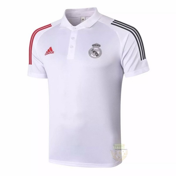 Site Foot Pas Cher Polo Real Madrid 2020 2021 Blanc Rouge