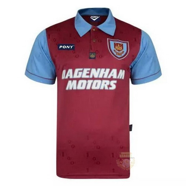 Site Foot Pas Cher Édition commémorative Maillot West Ham United 100th Rouge